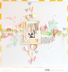 So excited to have the AMAZING Wilna Furstenberg Guest Designing this May using our new Allison Kreft line, 'Sprinkled With Love'!! It's a match made in HEAVEN! websterspages.com...