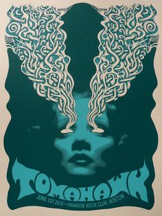 Tomahawk+limited+edition+art+print+poster+por+mishkawestell+en+Etsy,+$25,00
