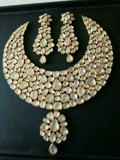 Massive jadai polki set. There is something about the polki diamonds thats just magical!