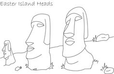 Easter Island Easter Island Heads Easter Island Coloring Pages