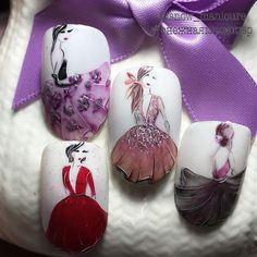 The best manicure new photos Water Nail Art, Gel Nail Art, Gel Nails, Acrylic Nails, Ongles Pin Up, Nail Art Designs Videos, Nail Designs, Cute Nails, Pretty Nails