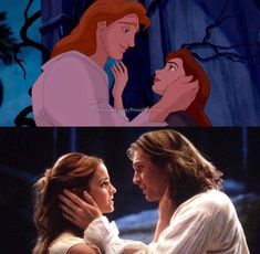 Beauty and the Beast Then (1991) and Now (2017) Belle and Adam