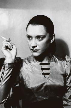 Maria Cerarés in Albert Camus' Les Justes at the Théatre Hébertot in Paris, December 1949. (Courtesy Roger-Viollet)