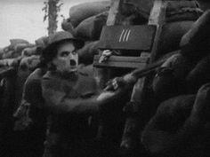 "secfromdisaster: ""  Charlie Chaplin ""Shoulder Arms"" """