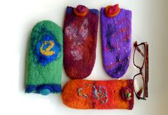 My felted spectacles folders