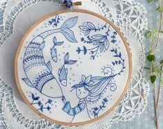 Embroidery Kit Hand embroidery Flying Fairy Fairy nursery