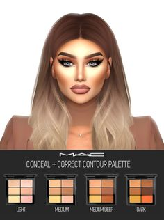 """mac-cosimetics: """" Conceal + Correct (Contour Palette) by MAC Model: @carmensanders ** These Palettes come in 4 different tones, each with 6 shades to choose from** Works well with our: Studio Fix Fluid Foundations   Nose Contour   Bronzing..."""