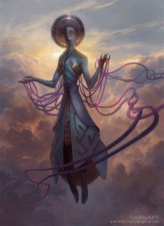 Zachriel - Angel of Memory, Peter Mohrbacher on ArtStation at https://www.artstation.com/artwork/zachriel-angel-of-memory