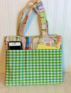 Tract and Magazine folder/bag with handles by DesignsByLizzieLeeG, $25.00