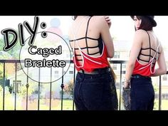 ☀DIY: Summer Bralette Bandeau {Caged Back}