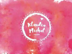 Wedding Logo Klaudia Michal Wedding Logos, My Works, Our Wedding, App, Fruit, The Fruit, Apps