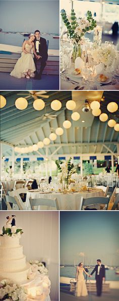 Yacht club wedding inspiration. Potential for RGYC
