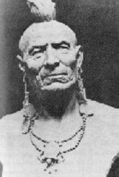 Chief Oratam, great sachem of the Hackensack tribe of Lenape (or Delaware) Indians. He was of the turtle clan whose emblem is on his necklace.