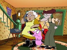 Courage the Cowardly Dog- series by John R. Dilworth for Cartoon Network - Cartoon Videos Kids For 2019 2000s Cartoons, Old School Cartoons, Old Cartoons, Classic Cartoons, Cartoon Fan, Cartoon Gifs, Cartoon Movies, Cartoon Shows, Cartoon Characters 90s