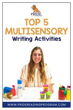 Writing doesn't need to be boring. Try these fun and engaging multisensory writing strategies with your kids. When kids see it, say it, hear it and move with it - they learn best! #writing #teachwriting #multisensory #homeschool #ortongillingham #dysgraphia via @pridereading High School Writing Prompts, Writing Lessons, Kids Writing, Teaching Writing, Writing Ideas, Creative Writing, Teaching Ideas, Reading Comprehension Activities, Writing Strategies