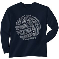 Amazon.com: Premium Volleyball T-Shirt Long Sleeve | Volleyball Words | Youth to Adult Sizes | Multiple Colors: Clothing