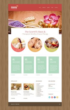 Sauna Responsive Joomla Template New Screenshots BIG Spa Design, Menu Design, Flyer Design, Nail Design, Newsletter Layout, Newsletter Design, Brochure Design Inspiration, Website Design Inspiration, Design Ideas