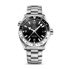 Omega Gents Seamaster Planet Ocean GMT Automatic 43.5mm Black Dial Stainless Steel Watch