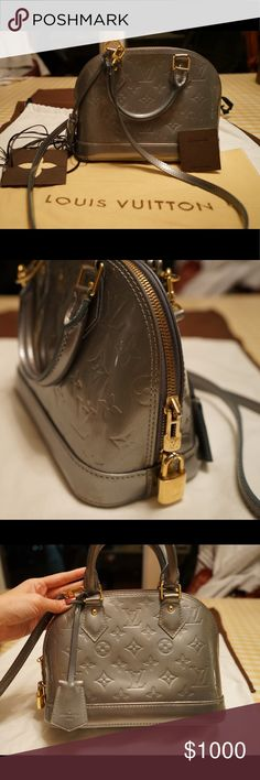 f11f5eea7ab3 Louis Vuitton Vernis Alma BB Grey Givre Bag In good used condition! Has  some marks