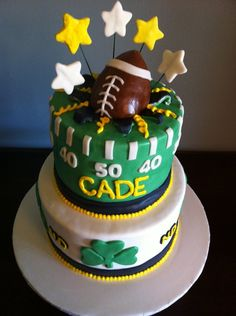 Notre Dame Football Cake — Birthday Cakes