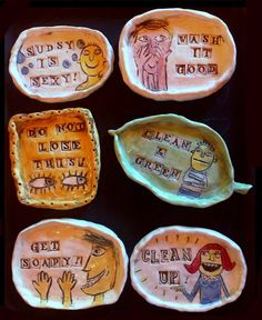 Ceramic Soap Dishes  fun dishes for soap or by MurphyAdamsStudio,