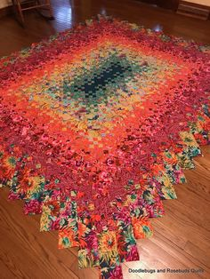 I just put the finishing stitches in this Blooming Nine Patch. The blocks were sewn into rows and the rows are now sewn into a quilt to. 9 Patch Quilt, Strip Quilts, Scrappy Quilts, Halloween Quilts, Patchwork Quilt Patterns, Quilt Patterns Free, Granny Square Quilt, Watercolor Quilt, Flower Quilts