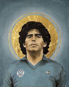 Football Icon - Diego Maradona by David Diehl as Poster Art Football, Soccer Art, Football Icon, Maradona Tattoo, Camoflauge Wallpaper, David Diehl, Framed Art Prints, Canvas Prints, Diego Armando