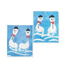 Little Feet Snowmen Painting
