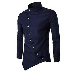Cheap shirt lamborghini, Buy Quality shirt leather directly from China shirt snaps Suppliers: Men Shirt Long Sleeves 2017 Brand Shirts Men Casual Male Slim Fit Solid color Chemise Mens Camisas Dress Shirts Chemise Homme Zerschnittene Shirts, Cut Up Shirts, Fall Shirts, Casual Shirts, Collar Shirts, Shirts For Men, Cheer Shirts, Party Shirts, Casual Tops