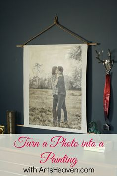 Photo Made Into Painting- make it look vintage!