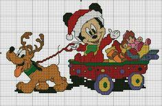 Baby Santa Mickey 2 of 2 Xmas Cross Stitch, Cross Stitch For Kids, Cross Stitch Books, Cross Stitch Baby, Cross Stitching, Disney Cross Stitch Patterns, Counted Cross Stitch Patterns, Cross Stitch Charts, Cross Stitch Designs