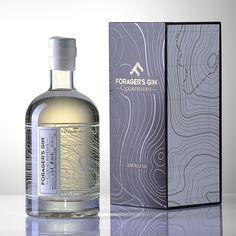 Forager's Gin > Progress Packaging Beverage Packaging, Bottle Packaging, Coffee Packaging, Food Packaging, Wine Bottle Design, Wine Label Design, Alcohol Bottles, Gin Bottles, Le Gin