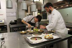 Andrea Mattei and his team prepare the dishes