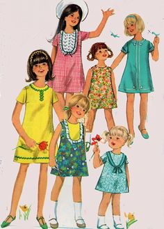 1960s Simplicity 6905 Girls MOD A Line Dress with by sandritocat, $9.00