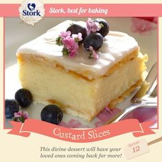 Need a simple but ever-so-delicious dessert Try our custard slices recipe today! Custard Recipes, Baking Recipes, Cake Recipes, Dessert Recipes, Kid Desserts, Pudding Recipes, Dessert Ideas, South African Desserts, South African Recipes