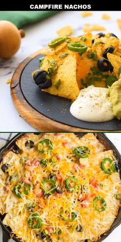 Looking for an amazing camping meal? These easy campfire nachos are IT! Outdoor cooking doesn't need to be limited to burgers and hot dogs — you can broaden your horizons to a hearty Mexican-inspired Vegetarian Camping, Vegetarian Nachos, Vegetarian Recipes, Camping Dishes, Camping Meals, Camping Recipes, Camping Cooking, Mexican Breakfast Recipes, Mexican Food Recipes