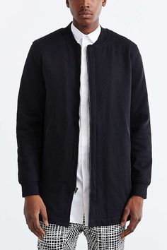 8be10894e7 The Narrows Long Bomber Jacket - Urban Outfitters Size M Long Bomber  Jacket