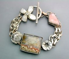 Lace Agate Bracelet by Temi on Etsy, $220.00