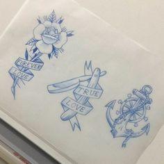 Flashes disponíveis para tattok com @caiqueataide #studiotat2 #galeriadorock #centrosp #flashtattoo #tradicional #tattoo2me #drawing2me #indpirationatattoo