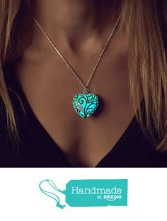 Glow in the Dark Necklace - Glowing Jewelry - Glow Necklace - Heart Necklace - Christmas Gift from Epic Glows http://www.amazon.com/dp/B016DMHQOG/ref=hnd_sw_r_pi_dp_kM-fwb1FPGTX8 #handmadeatamazon