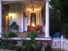 AFTER: side garden and wraparound porch makeover
