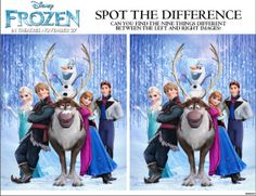From our blog, Frozen spot the difference game