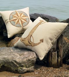 Love these pillows! #nautical