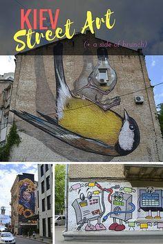 How to do a DIY Kiev street art tour in Ukraine! (Plus a brunch recommendation)
