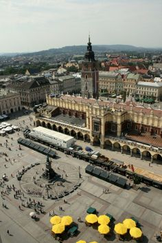 Krakow, Poland, one of the largest squares in Europe and only a 10 min. walk to our apartment :)