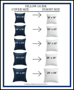 decorative pillows 12666442689726659 - Decorative Pillows + Pillow Sizing Chart + Mix & Match Pillow Combinations Source by ktkeller Home Bedroom, Bedroom Decor, Master Bedroom, Bedrooms, Interior Design Tips, Home And Living, Living Room, Living Spaces, Home Projects