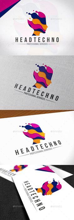 Technology Head Logo Template — Photoshop PSD #creativity #innovation