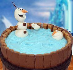 Anniversaire gâteau la Reine des neiges Anna, Elsa et olaf - gateaux reine des neiges