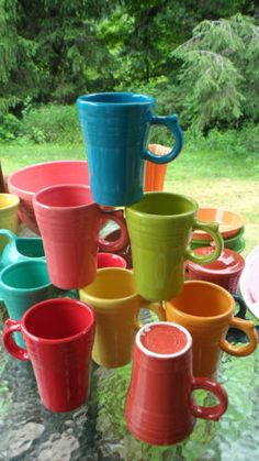 Latte Mug Cup Fiesta Ware -- These are available only at Kohls.  I love it in Tangerine and Lemongrass.
