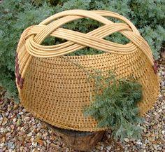 Vintage Weaved and Woven Flower Gathering Basket by DustandDaze, $36.00